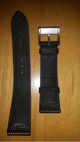 relógio nautica 2,0cm preta couro só a pulseira nova 100%