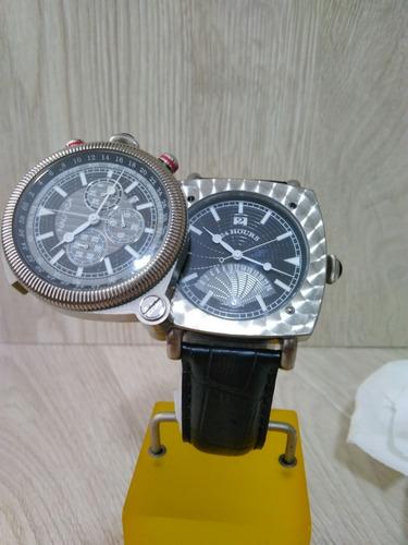 relogio nautica a43001 spettacolare duo titanium seiko inox