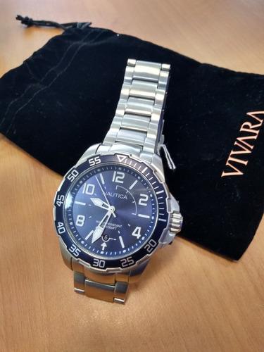 relógio nautica analogico