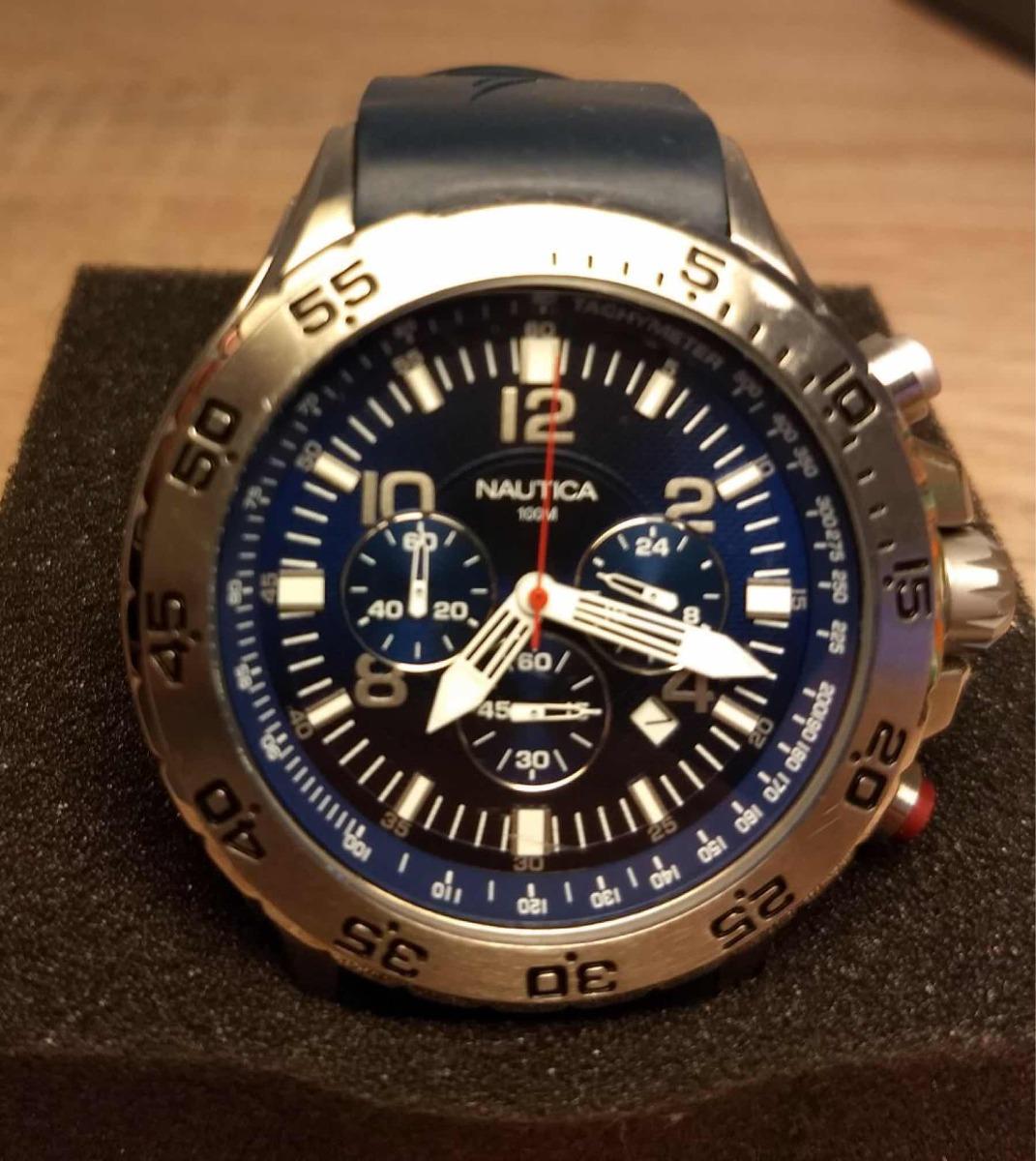 a581c32d5e9 relógio náutica azul cronológico. Carregando zoom.