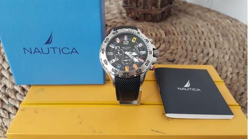 relógio nautica bandeiras. a24520g 100 metros 100% original.