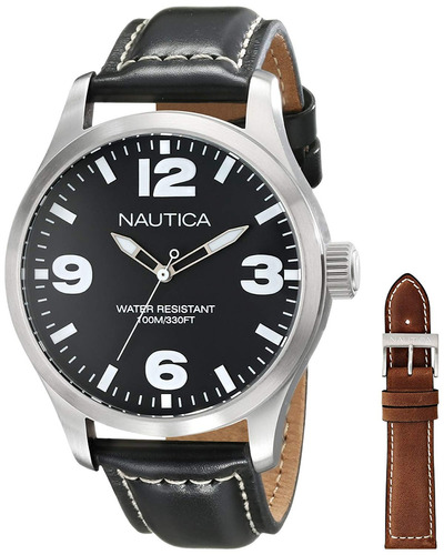 relógio nautica com 2 pulseiras nad13500g