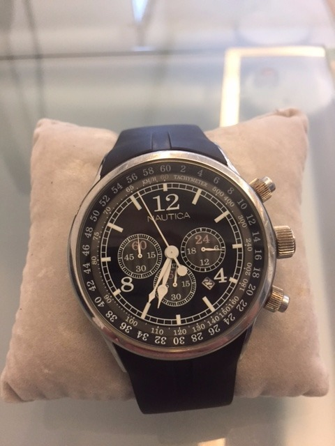 bca5938c05b Relógio Nautica Cronógrafo Pulseira Borracha Sport - R  200