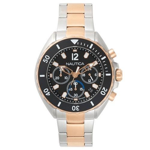3a575d59f3c Relógio Nautica Masculino Aço Prateado E Rosé - Napnwp006 - R  998 ...