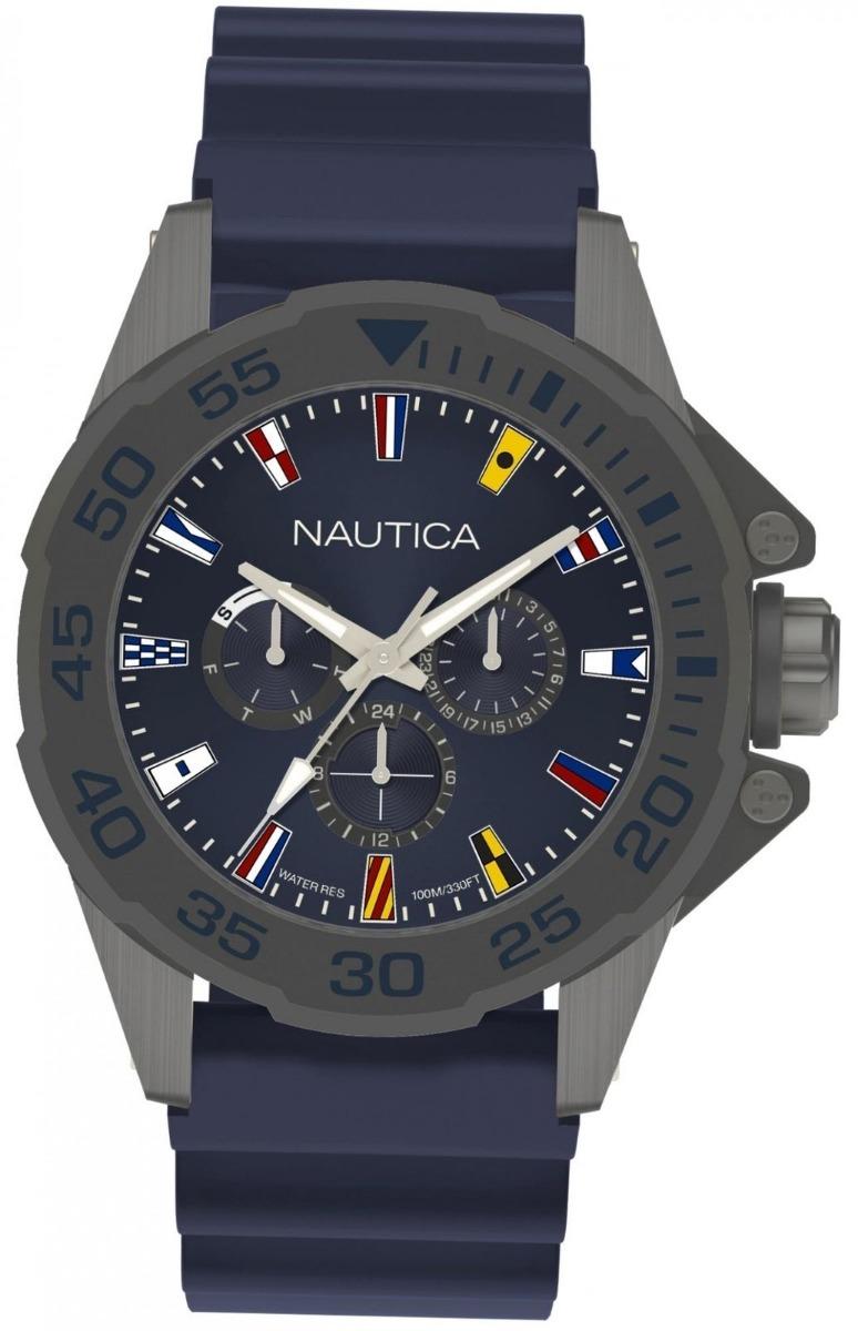 1737620b870 Relógio Náutica Masculino Miami Flags Napmia004 - R  599