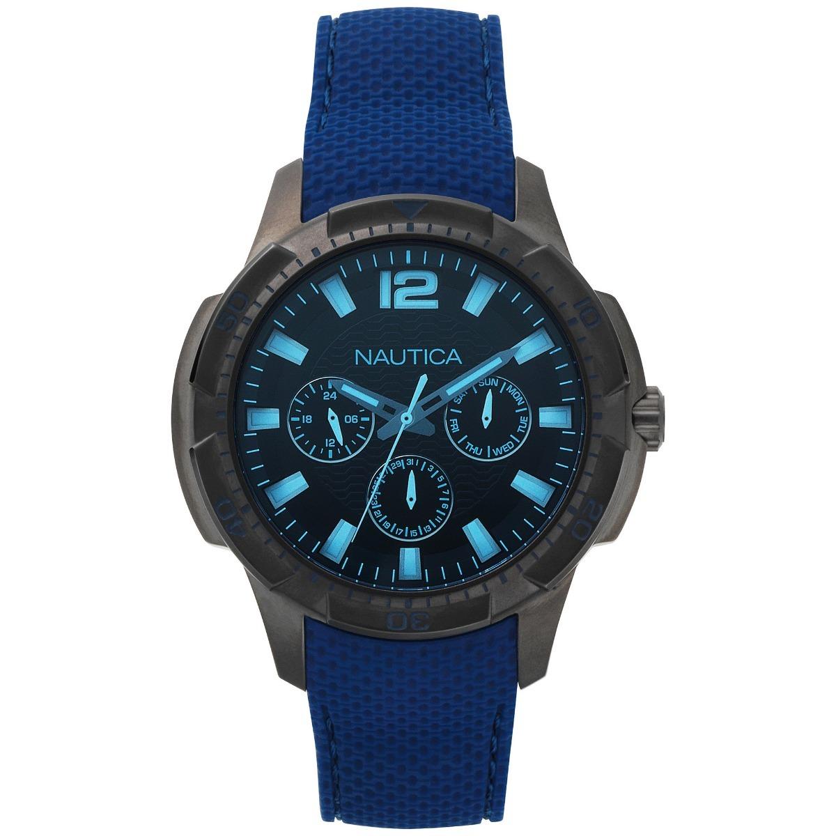 2169413cd38 Relógio Náutica Masculino Multifunções San Diego Napsdg004 - R  749 ...