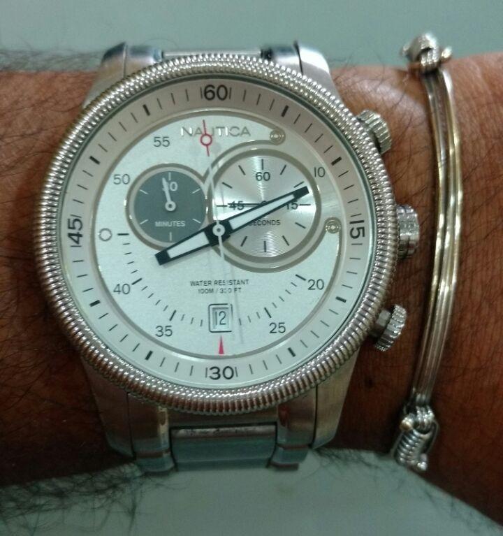 2410202551f Relógio Náutica Masculino Aço Vivara - R  950