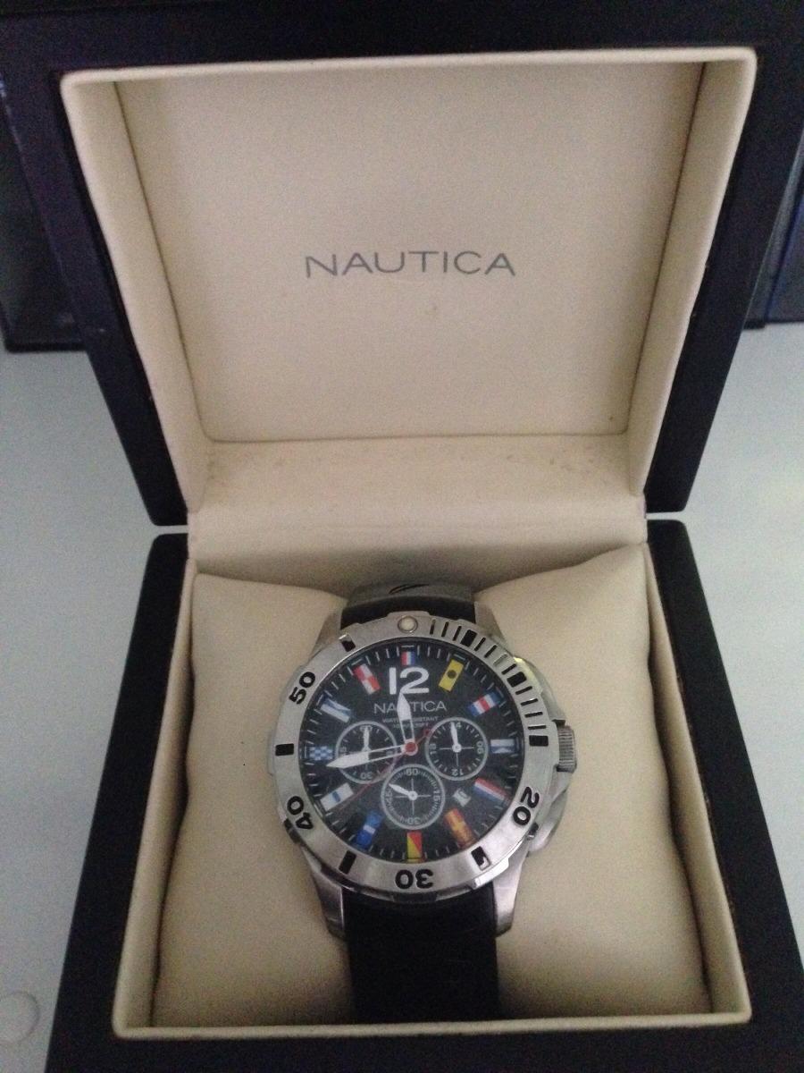 4b28565901a relógio nautica masculino resina preta - a18636g. Carregando zoom.