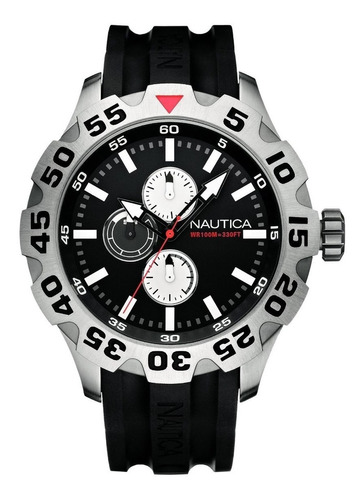 relógio nautica multifuncional preto n15564g