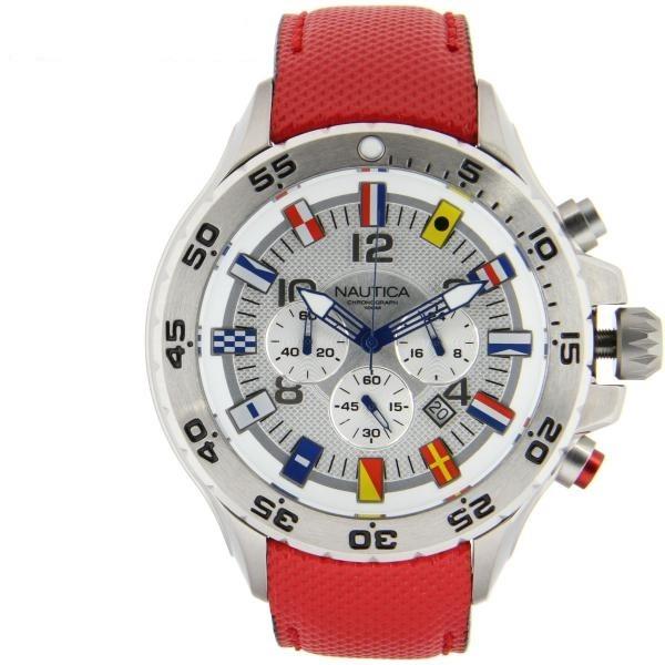 4529f81ff69 Relógio Nautica Nst Multi-bandeiras Chrono 330ft N16532g - R  854