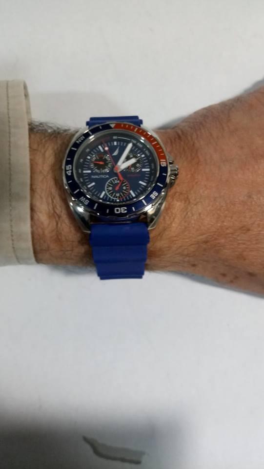 d689ec6294a relógio nautica sports ring n07578 watch azul melhor preço. Carregando zoom.
