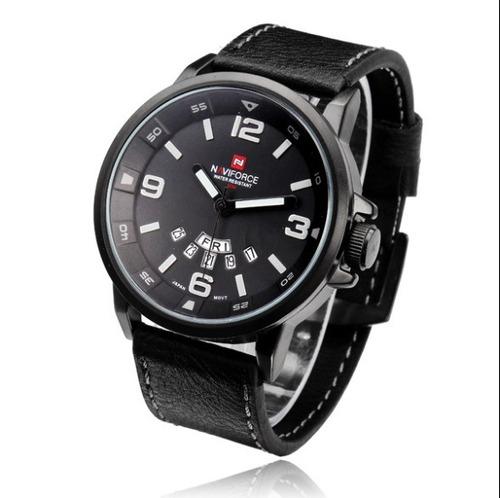 relógio naviforce 9028 masculino analógico prova d'água