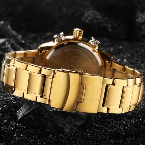 relógio  naviforce 9093 dourado top luxo (envio imediato )