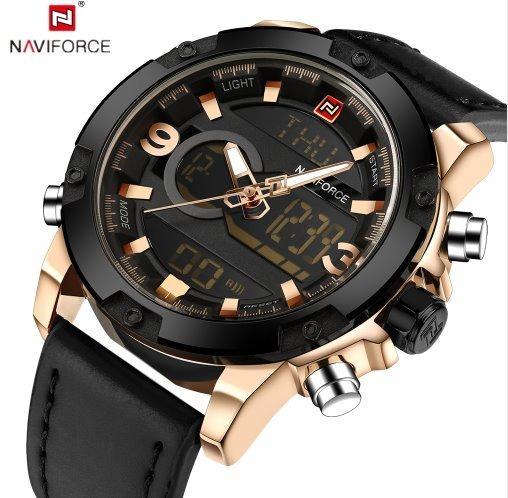 b48ad88dfa7 Relógio Naviforce Masculino Analógico Digital Pulseira Couro - R ...