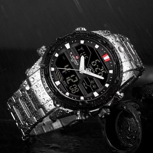 relógio naviforce masculino esportivo lançamento original