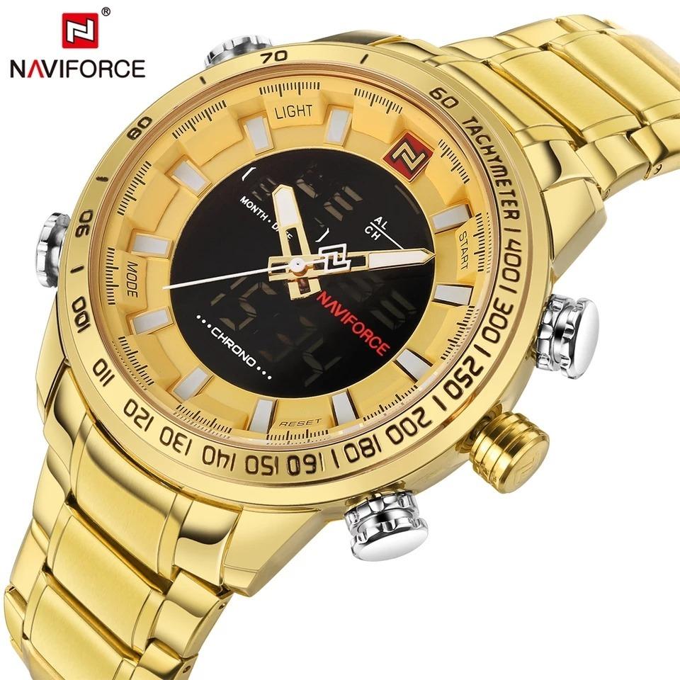 b98efd2a51a relógio naviforce militar digital analógico nf 9093 aço inox. Carregando  zoom.