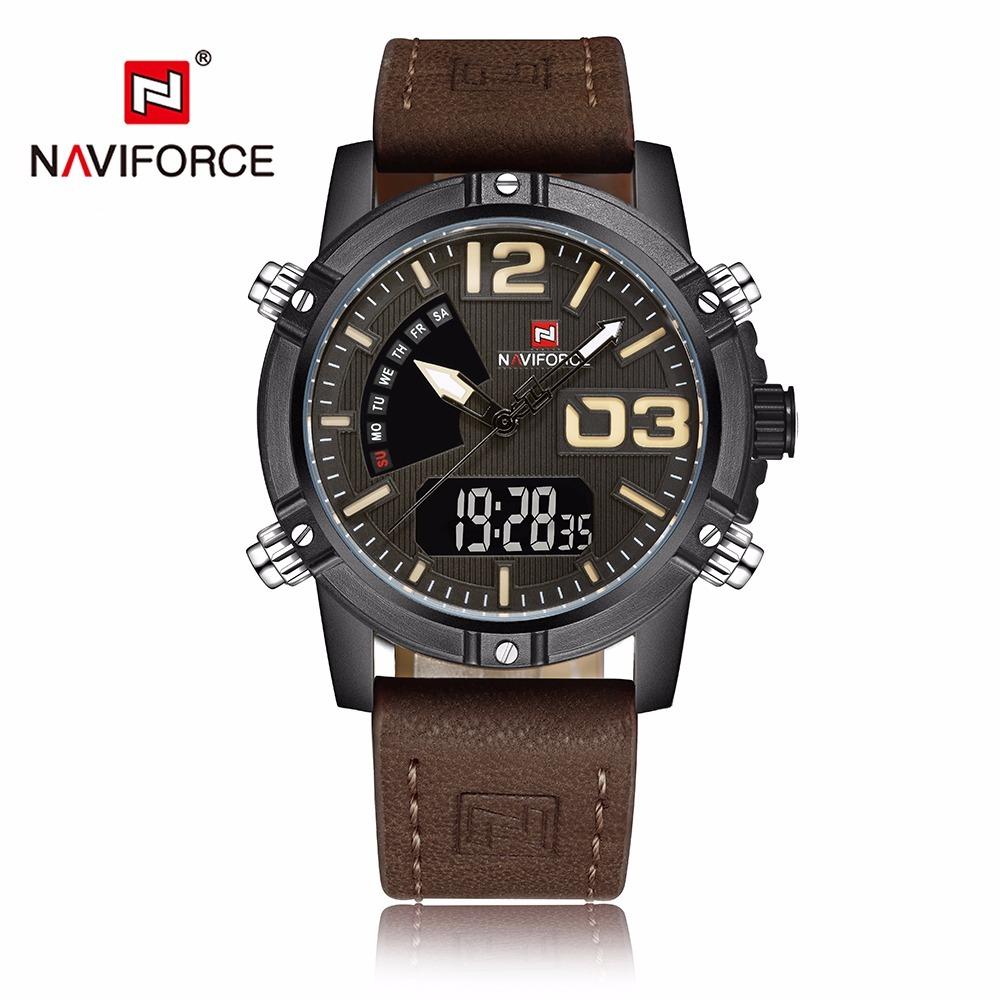46e60818d4e Relógio Naviforce Militar Nf9095 Couro Legítimo Frete Grátis - R ...