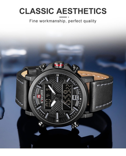 relógio naviforce new men's fashion sport