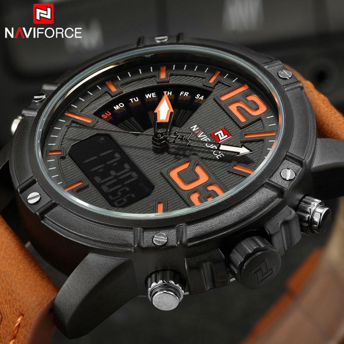 a3ae35ae7d5 relógio naviforce nf9095 masculino original pulseira marrom. Carregando  zoom.