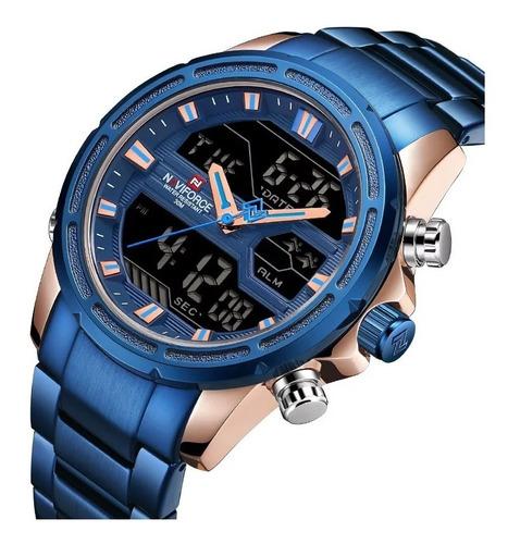 relógio naviforce nf9138s esportivo lançamento original