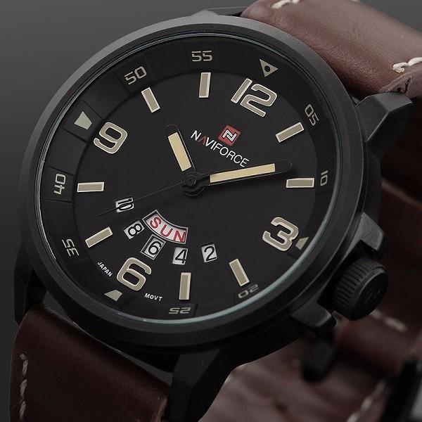 e37cddda4ad Relógio Naviforce Original Marrom Masculino Present Promoção - R  117
