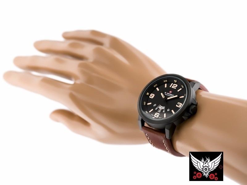 766117fe0f8 relógio naviforce original marrom masculino present promoção. Carregando  zoom.