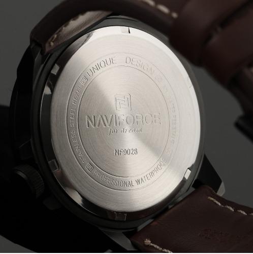 9b8061d3223 Relógio Naviforce Original Marrom Masculino Present Promoção - R ...