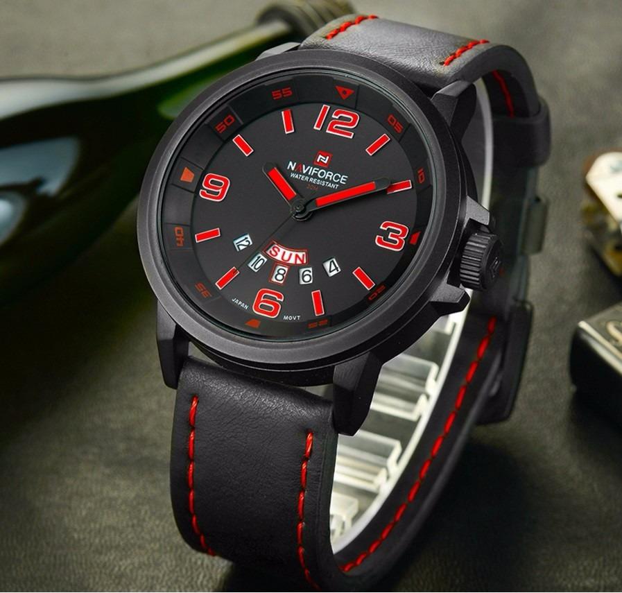 acc93607975 relógio naviforce original masculino esportivo presente top! Carregando zoom .