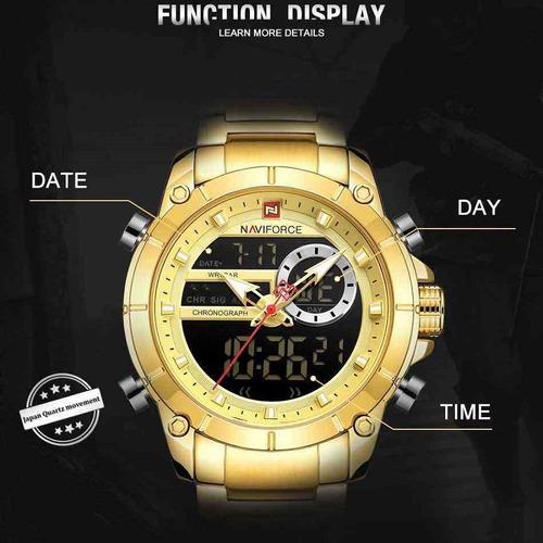 relógio naviforce para homens militar esporte de pulso