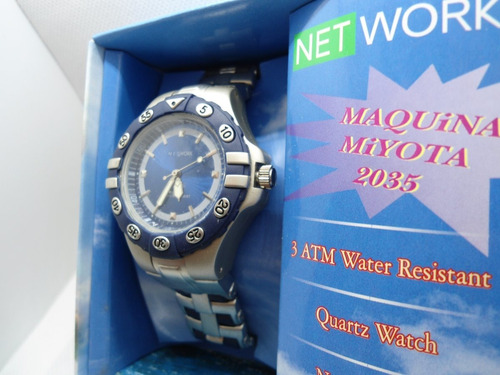relógio net work com maquina miyota  2035 original e novo
