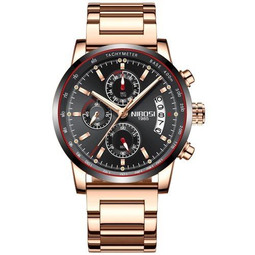 f55bafa13d1 Relógio Nibosi® Cronômetro E Cronógrafo À Prova D água 3atm - R  189 ...