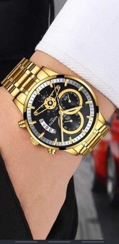 relógio nibosi luxo original funcional promoção