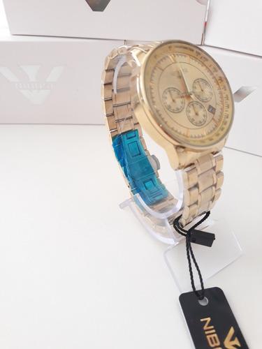 relógio nibosi max  inox original prova d´água varias cores