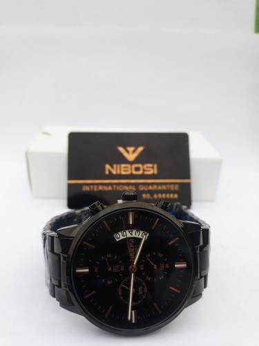 relógio nibosi original, prova d'água, envio imediato.