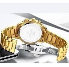 relógio nibosi original prova d'agua/pronta entrega frete gt