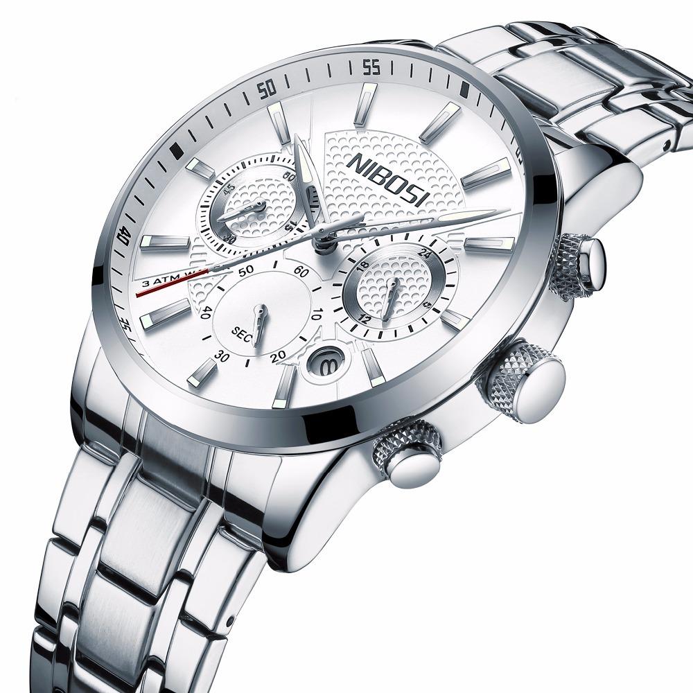 186b8cb2a3d relógio nibosi® à prova d água luxo cronômetro cronógrafo. Carregando zoom.