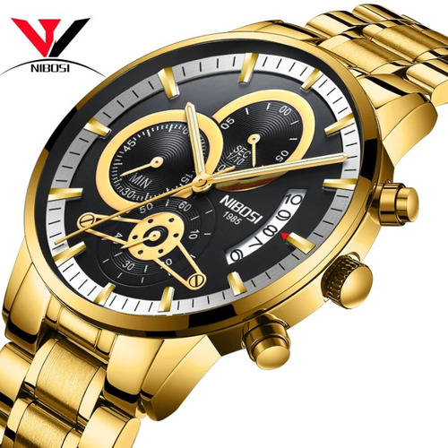 relógio nibosi/original/promoção/barato/funcional/luxuoso.
