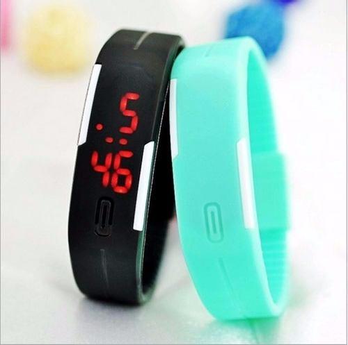 86383608e34 Relógio Nike Digital Led Pulseira Silicone Várias Cores - R  6