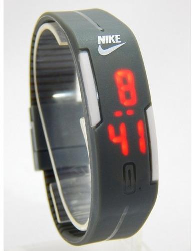 relógio nike led touch screen toca na tela hora abre