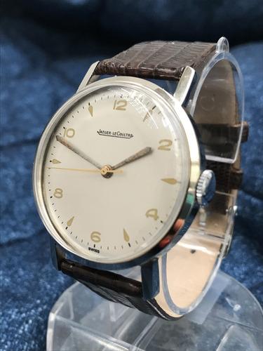 relógio nivel ômega grandão 37mm jaeger lecoultre à corda com caixa e tampa não originais - 13 anos no mercado livre