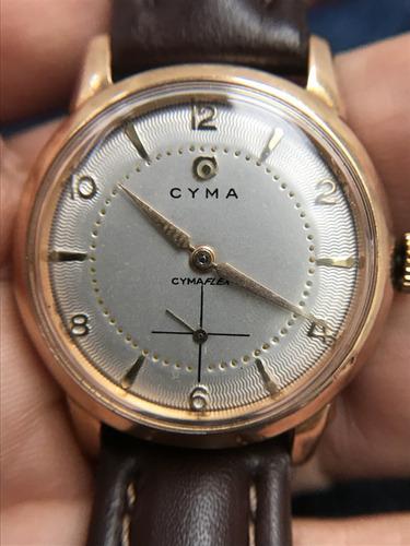 relogio nivel omega em ouro maciço 18k marca cyma, uma peça maravilhosa, um luxo! - 13 anos no mercado livre
