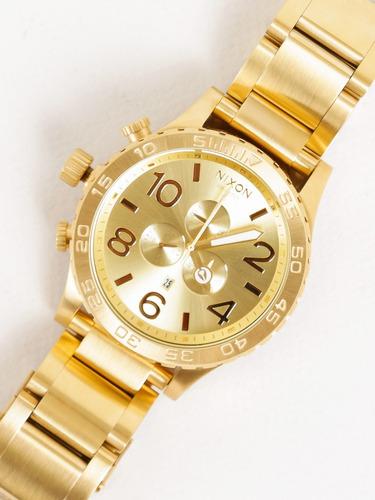 relógio nixon 51-30 chrono all gold - nixon dourado