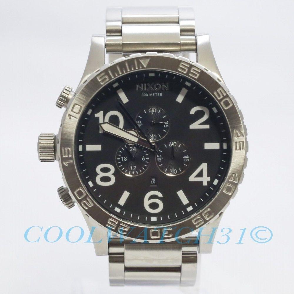 9cee369fc04 relógio nixon 51-30 chrono prata e preto original e garantia. Carregando  zoom.