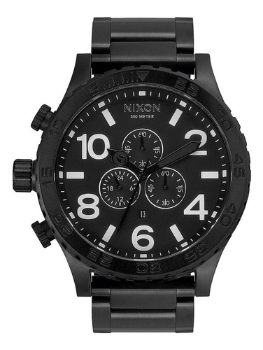 relógio nixon 51 all black a083 2790 original australiano