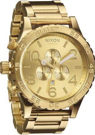 relogio nixon 5130 dourado