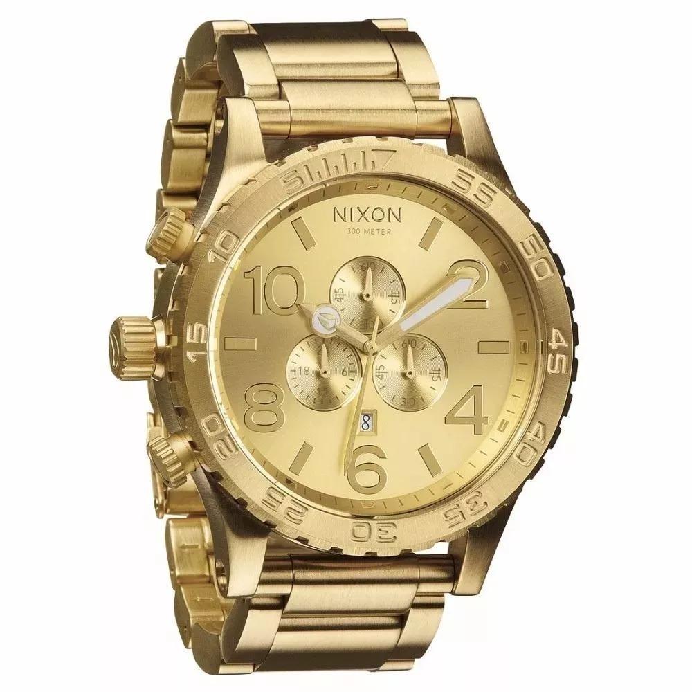 eacf81565ea relógio nixon a083502-00 dourado 51-30. Carregando zoom.