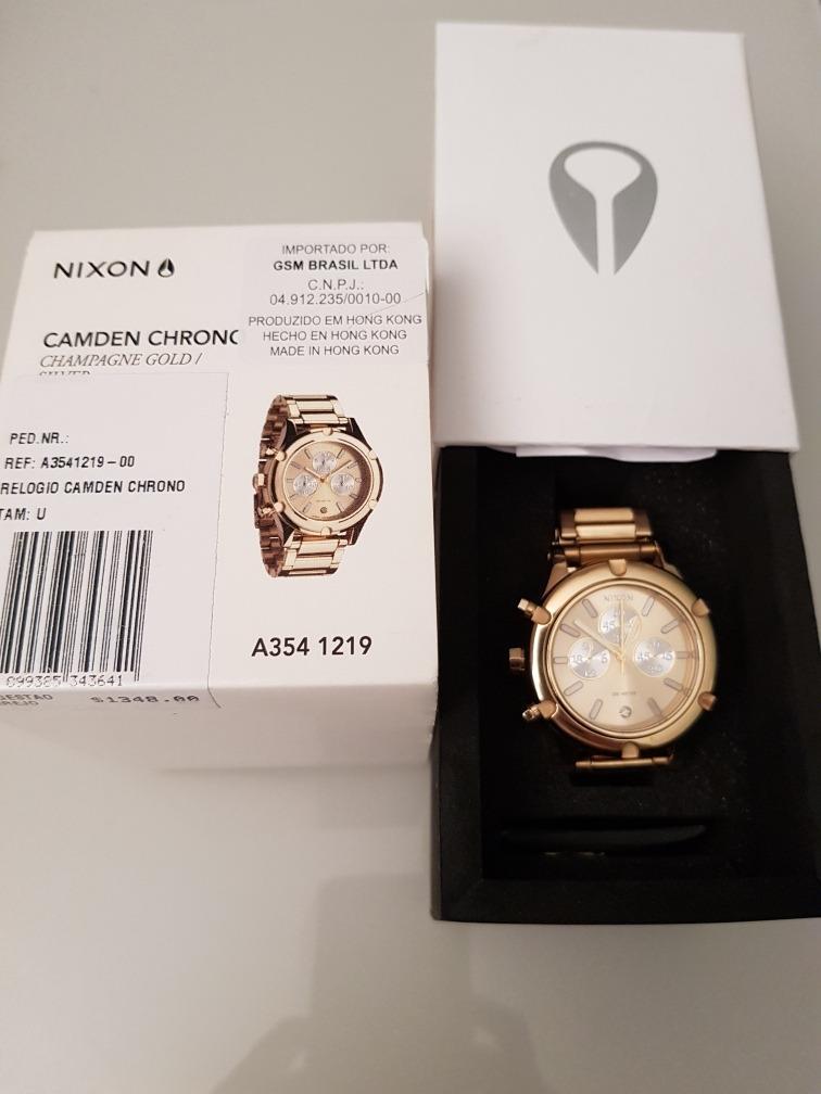 06880469ae4 Relógio Nixon Champagne Gold - R  500