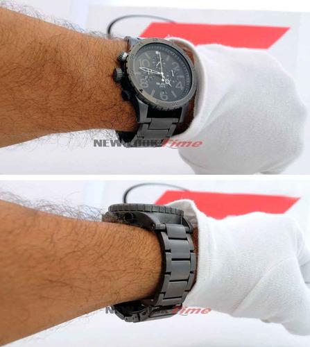 relógio nixon masculino the 48-20 chrono a486 632 *all gunme