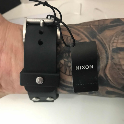 relogio nixon october 100% original! unit fader tide rubber