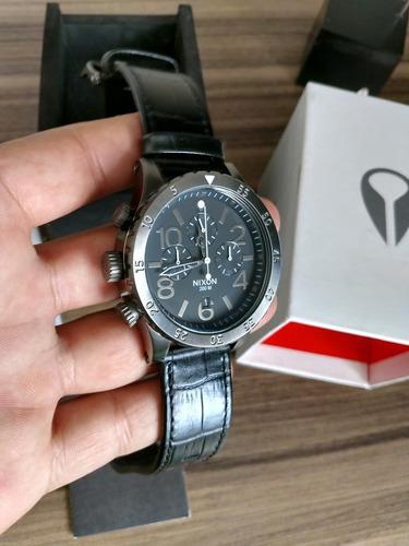 relógio nixon original ( 48-20 gunmetal leather) 10% descont